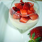 recette Mousse au Chocolat Blanc & Fraises en Verine