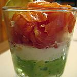 recette Verrine saumon tomate avocat