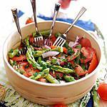Salades de tomates, asperges et anchois