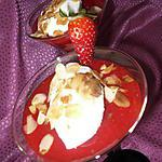 recette Soupe de fraises et nuage sucré