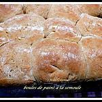 recette boule de pain à la semoule