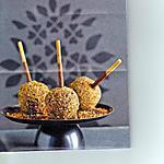 recette sucettes au chocolat noir,praliné et rhum.