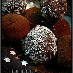 """recette TRUFFES """"légères"""" CHOCOLAT / CAFE habillées de CRISTAL"""