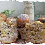 recette Financiers noisette Pomme Rhubarbe façon Muffins
