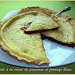 recette Tarte à la crème de pruneaux et fromage blanc