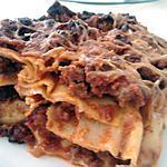 Lasagne à la bolognaine au pesto rosso et mozarella