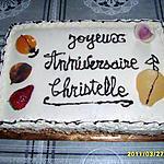 genoise/abricots/poires/fraises