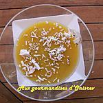 recette Blanc manger mangue-noix de coco