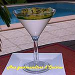 recette Blanc manger au lait de coco dans son lagon Antillais