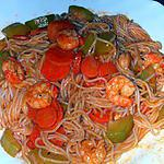 recette Noodles aux crevettes et lait de coco