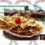 recette brochette de boeuf à l'oriental