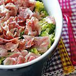 recette Gratin de brocolis pancetta et fromage bleu