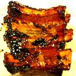 Travers de porc caramélisé au sirop d'érable