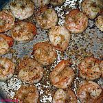 recette Crevettes sablées au parmesan et à l'ail