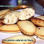 recette MADELEINES AU PRALIN