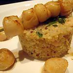 recette quinoa aux crevettes et saint jacques façon risotto