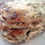 recette Lasagne de ravioles au saumon mozarella