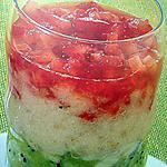 recette Marbré fraise -banane- kiwi