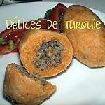 recette Köfte en croûte de Boulgour - Içli köfte