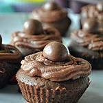 recette Cupcakes fondants tout chocolat & sa touche malteser