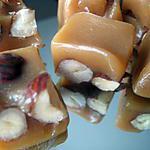 recette caramel au chocolat blanc fleur de sel et noisettes