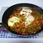 recette oeufs frits à l'espagnole aux lardons