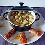 recette Cassolette de poireaux/St jacques