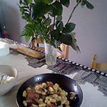 recette gnocchis aubergine asperges sauvage
