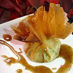 recette aumonières de pommes à la fourme d'ambert