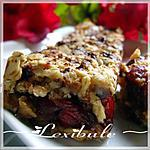 recette Barres tendre amandes, pacanes, canneberges et chocolat