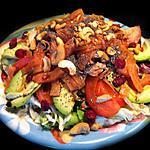 recette Le Printemps c'est fait, on passe direct à l'Eté ! Maxi salade saumon, thon, avocat et noix de pécan !