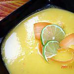 recette velouté de mangues et de carottes au citron vert