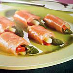 recette Rouleaux de saumon farci
