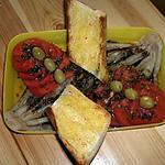 recette Blanc de poireau , tomates vinaigrette et tranche de pain à l'ail grillée