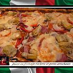 recette pizza au fromage raclette et petits  artichauts