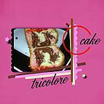 recette cake tricolore