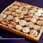 recette TARTE AU BOUDIN BLANC AU CHUTNEY DE POMMES A LA NOIX