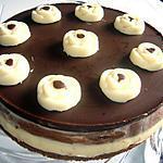 recette gâteau mousse au chocolat noire et chocolat blanc