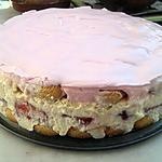 recette Tiramisu au fraise et son glaçage au fraise tagada