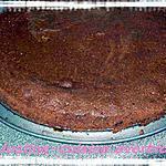 recette gâteau chocolat-caramel sur fond de cookies