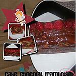 recette cake marbré chocolat framboises