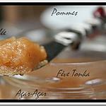 recette ** Gelée de pomme à la feve Tonka à tartiner realisée avec de l'AGAR l'AGAR**