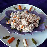 Salade de riz thon/surimi/cornichons