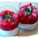 recette Verrines de Crème au Mascarpone et Tartare de Fraises