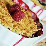 recette Crumbles individuels aux framboises et amandes