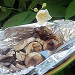 recette Papillotte de banane au nutella