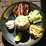 pat thai : recette Riz frit thaï à la pâte de crevettes et porc caramélisé