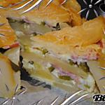 recette Gâteau pommes de terre, poivron et lardons