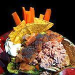 Tacos Salad:  Guacamole, Tuna & Salmon !