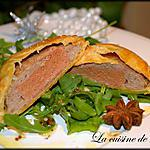recette Feuilleté de canard au foie gras